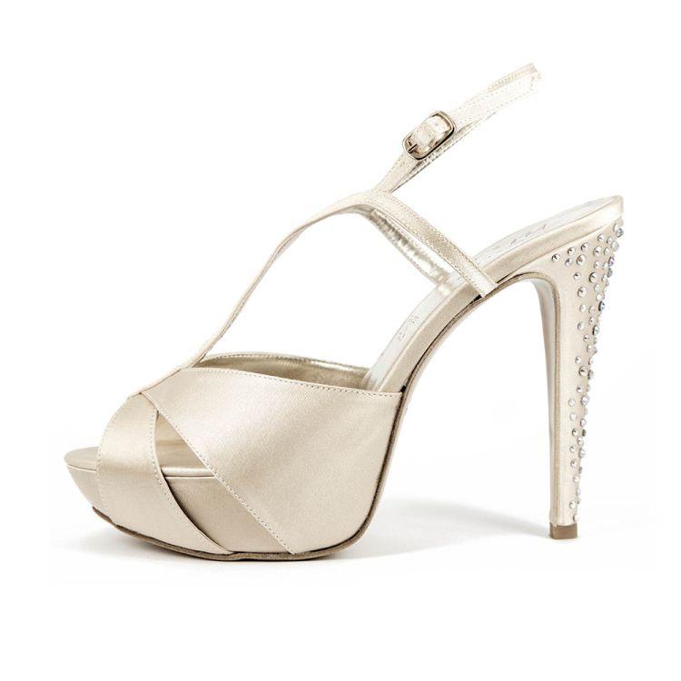 GARDENIA T110 • Stella Blanc: wedding shoes Made in Italy