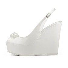 MARGHERITA • Stella Blanc: wedding shoes Made in Italy