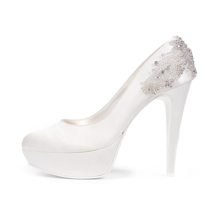 AMARANTA P • Stella Blanc: wedding shoes Made in Italy