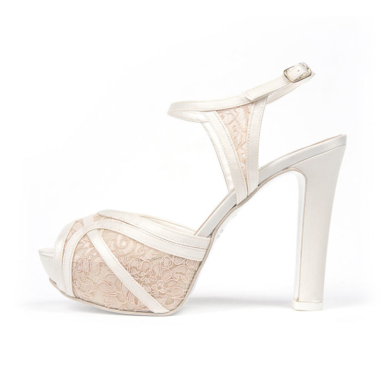 ANEMONE PIZZO • Stella Blanc: wedding shoes Made in Italy