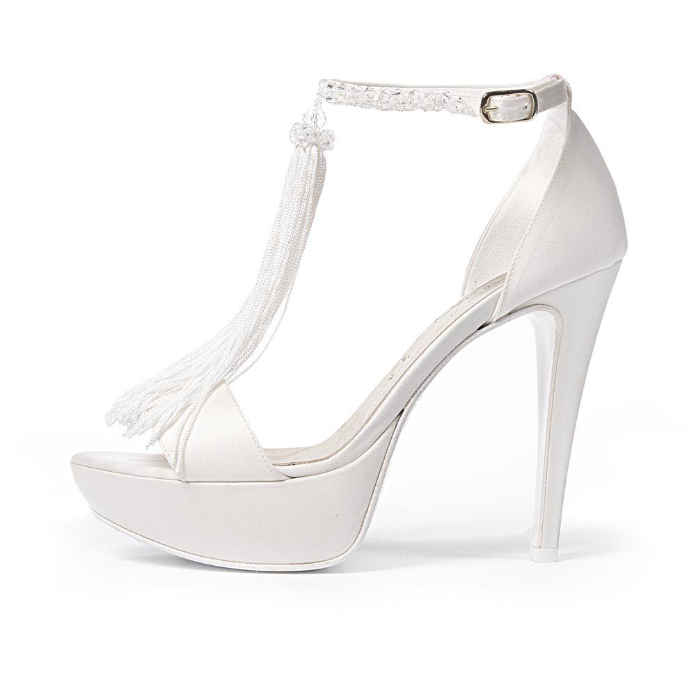 CRISTAL ROCK • Stella Blanc: wedding shoes Made in Italy