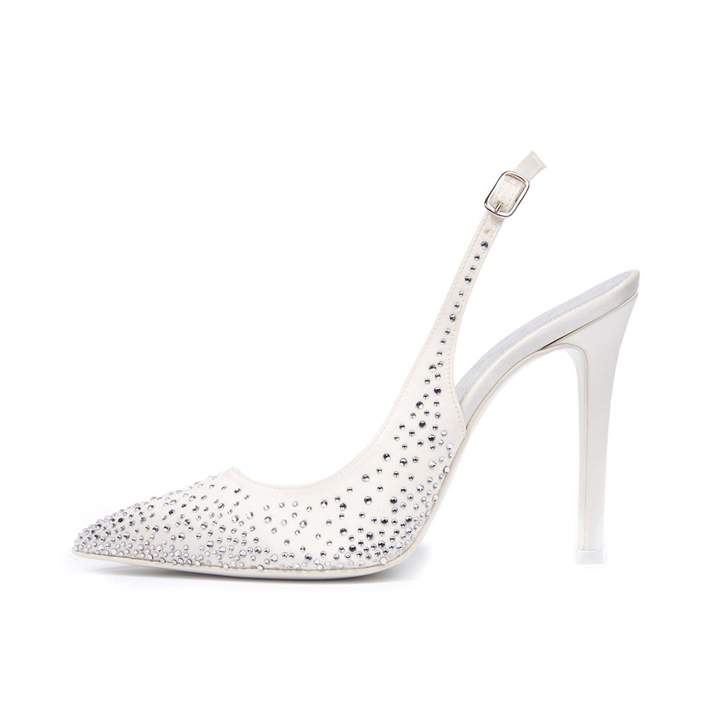 MIMOSA • Stella Blanc: wedding shoes Made in Italy