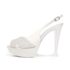 NINFEA CRISTAL WHITE • Stella Blanc: wedding shoes Made in Italy