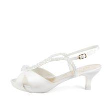GARDENIA T50 • Stella Blanc: wedding shoes Made in Italy