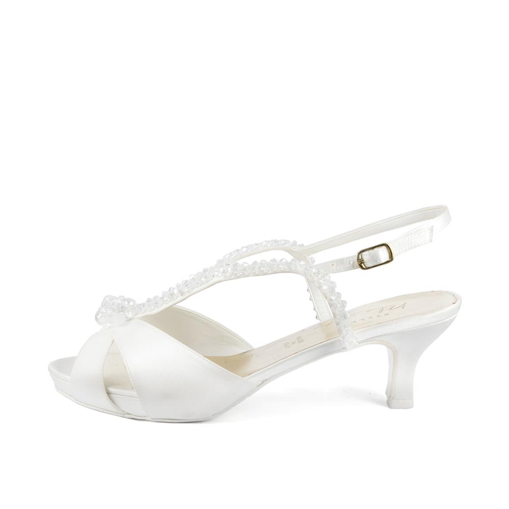 GARDENIA T50 • Stella Blanc: wedding shoes Made in Italy