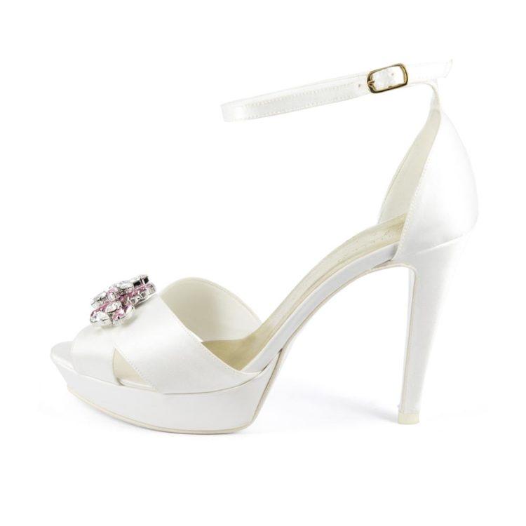 GIGLIO GIOIELLO • Stella Blanc: wedding shoes Made in Italy