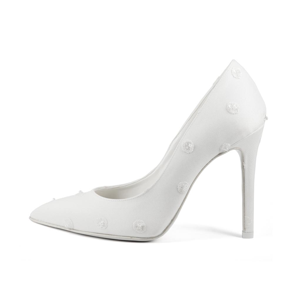 GIRASOLE POIS • Stella Blanc: wedding shoes Made in Italy
