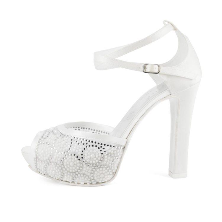 PREZIOSA • Stella Blanc: wedding shoes Made in Italy