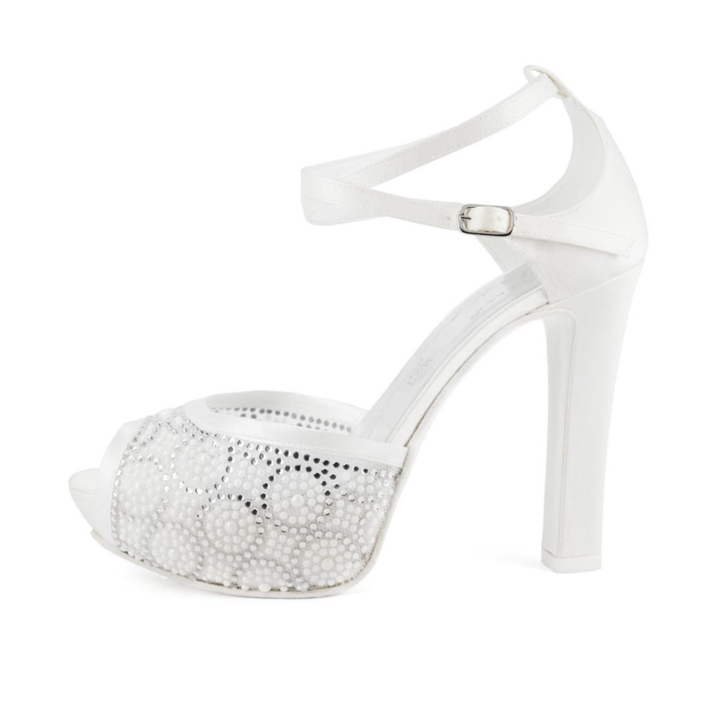 PREZIOSA • Stella Blanc: wedding shoes Made in Italy